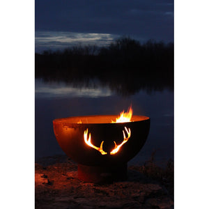 "FIRE PIT ART ANTLERS 36"" Fire Pit - Fireplace Features"