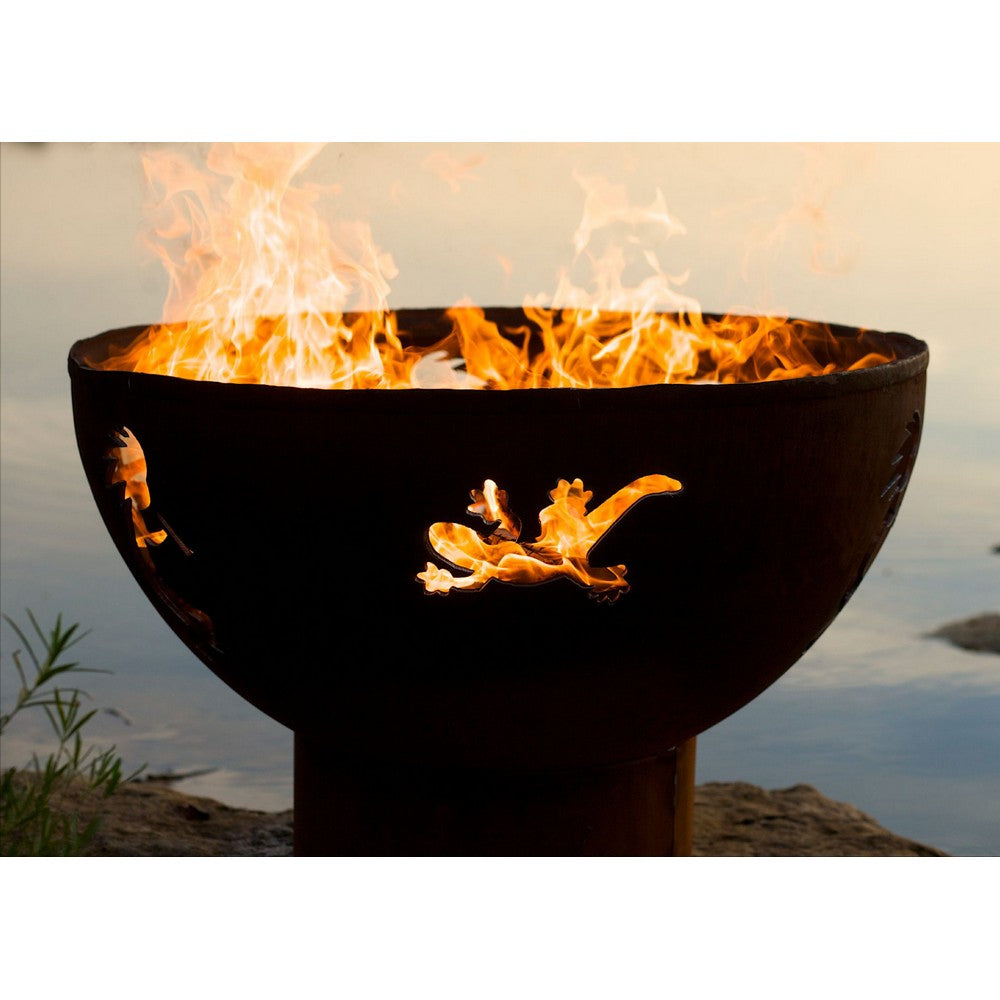 FIRE PIT ART KOKOPELLI 36