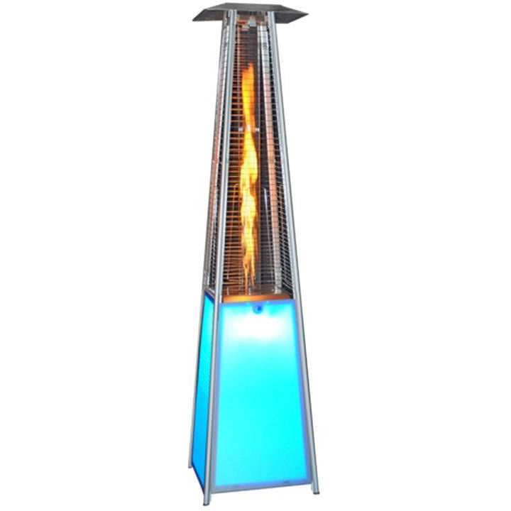 LED Light Show Square Design Patio Heater SUNHEAT PHSQLED - Fireplace Features