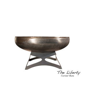 "OHIO FLAME 24"" Liberty Fire Pit with Curved Base - Fireplace Features"