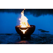 "FIRE PIT ART LONG HORN 36"" Fire Pit - Fireplace Features"