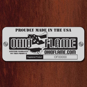 "OHIO FLAME 37"" Lunar Artisan Fire Bowl - Fireplace Features"