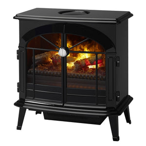 "Dimplex Stockbridge Opti-Myst® 25"" Electric Stove Wall-Mounted with Acrylic Ember Bed - Fireplace Features"