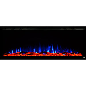 "TOUCHSTONE SIDELINE ELITE 60"" Black Wallmount Fireplace"