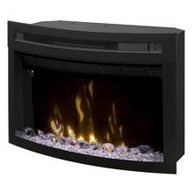 "Dimplex 25"" Multi-Fire XD Firebox With Curved Glass - Fireplace Features"