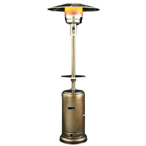Classic Design Patio Heater with Table - Golden Hammered SUNHEAT PHRDGH - Fireplace Features