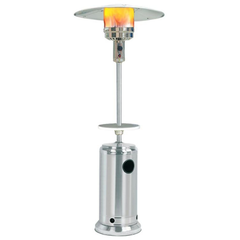 Umbrella Design Patio Heater with Table - Stainless Steel SUNHEAT PHRDSS - Fireplace Features