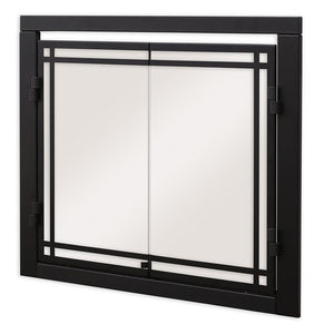 "Dimplex 36"" Portrait Revillusion® Double Glass Doors - Fireplace Features"