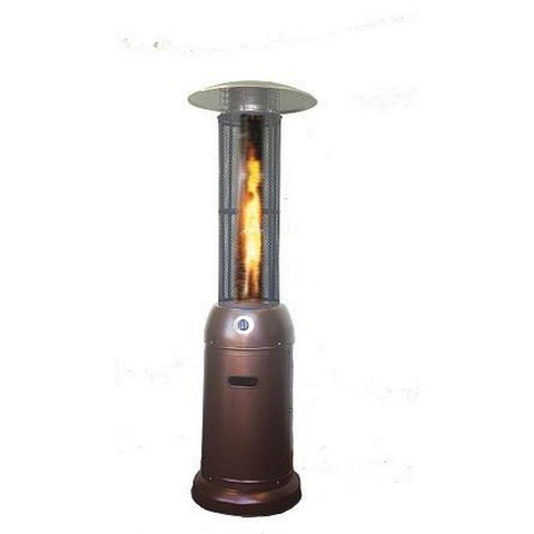 Flame Glass Tube Patio Heater-Golden Hammered SUNHEAT PHRDGH-34 - Fireplace Features
