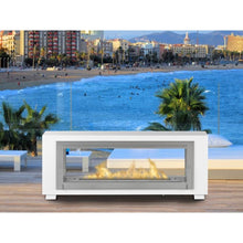 "ECO-FEU SANTA CRUZ 63"" 2-Sided Built In or Freestanding See-Through Bio-Ethanol Fireplace UL Listed - Fireplace Features"