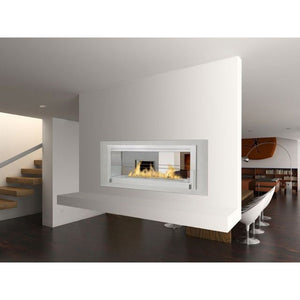 Santa Cruz 2-Sided Bio-Ethanol Fireplace - Stainless Steel / Stainless Interior ECO-FEU WS-00081-SS - Fireplace Features