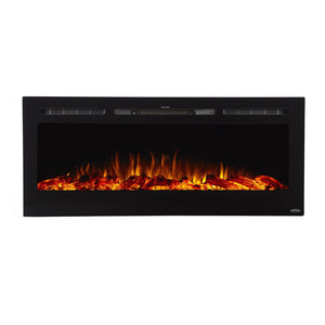"TOUCHSTONE SIDELINE 50"" Black Wallmount Fireplace"