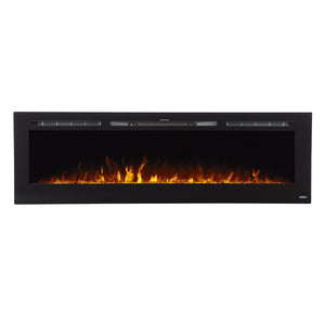"TOUCHSTONE SIDELINE 72"" Black Wallmount Fireplace"