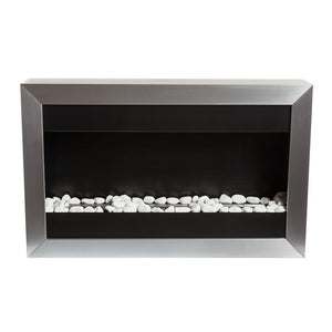 "BIO-BLAZE SQUARE SMALL I 34½"" Wall Mounted Multi-Burner Bio-Ethanol Fireplace - BB-SQS1 - Fireplace Features"