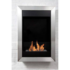 "BIO-BLAZE SQUARE VERTICAL 21½"" Wall Mounted Single Burner Bio-Ethanol Fireplace - BB-SQV - Fireplace Features"