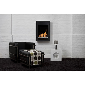 Square Vertical Wall Mounted Ethanol Fireplace - BB-SQV - Bio-Blaze - Fireplace Features