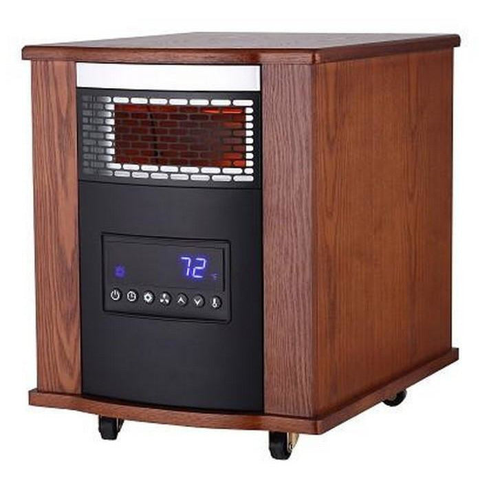 Infrared Heater with Remote Control - Modern Oak SUNHEAT TW1500-UV - Fireplace Features