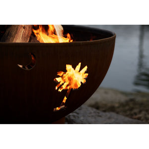 "FIRE PIT ART TROPICAL MOON 36"" Fire Pit - Fireplace Features"