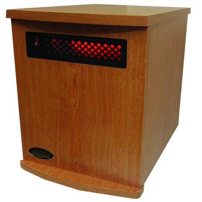 Infrared Heater-Fully Made in the USA- Oak SUNHEAT USA1500-M - Fireplace Features