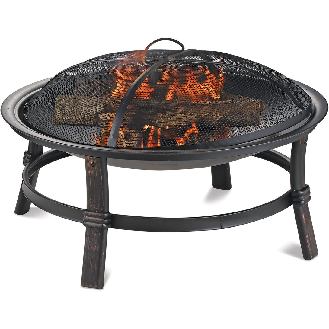 Brushed Copper Wood Burning Outdoor Firebowl WAD15121MT Mr BBQ - Fireplace Features