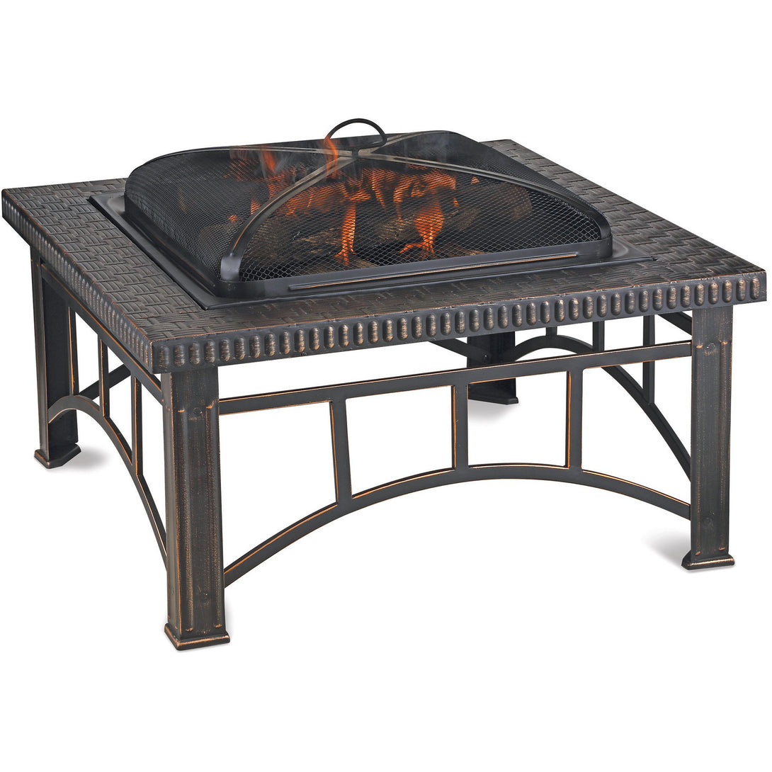 Brushed Copper Wood Burning Outdoor Firebowl WAD15143MT Mr BBQ - Fireplace Features