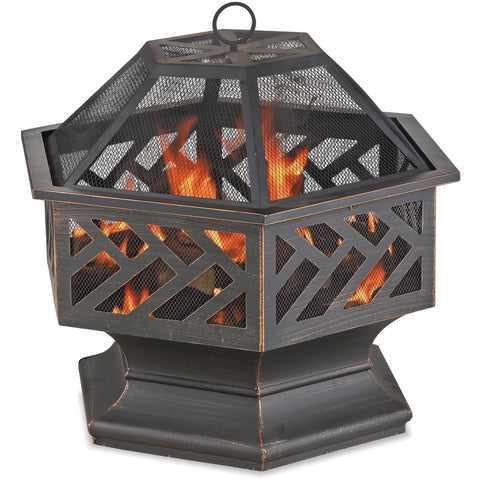 Oil Rubbed Bronze Wood Burning Outdoor Firebowl WAD1576SP Blue Rhino - Fireplace Features