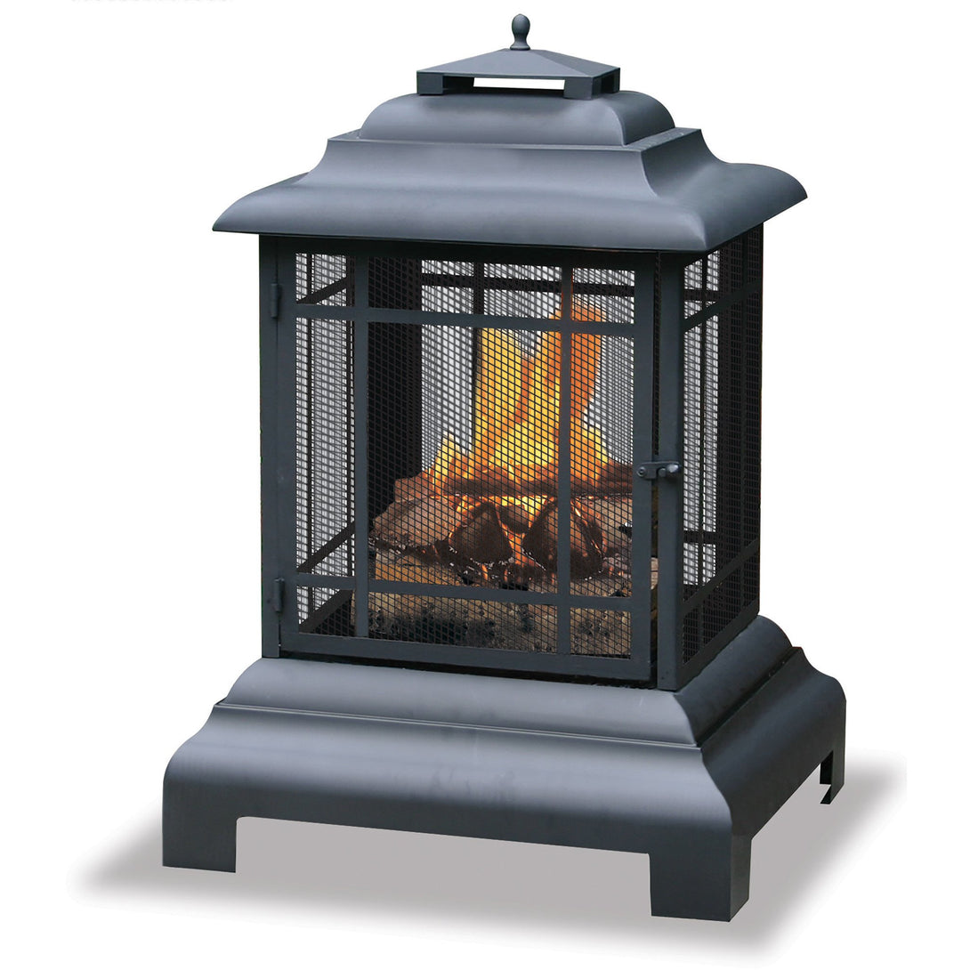 Black Wood Burning Outdoor Firehouse WAF501CS Mr BBQ - Fireplace Features