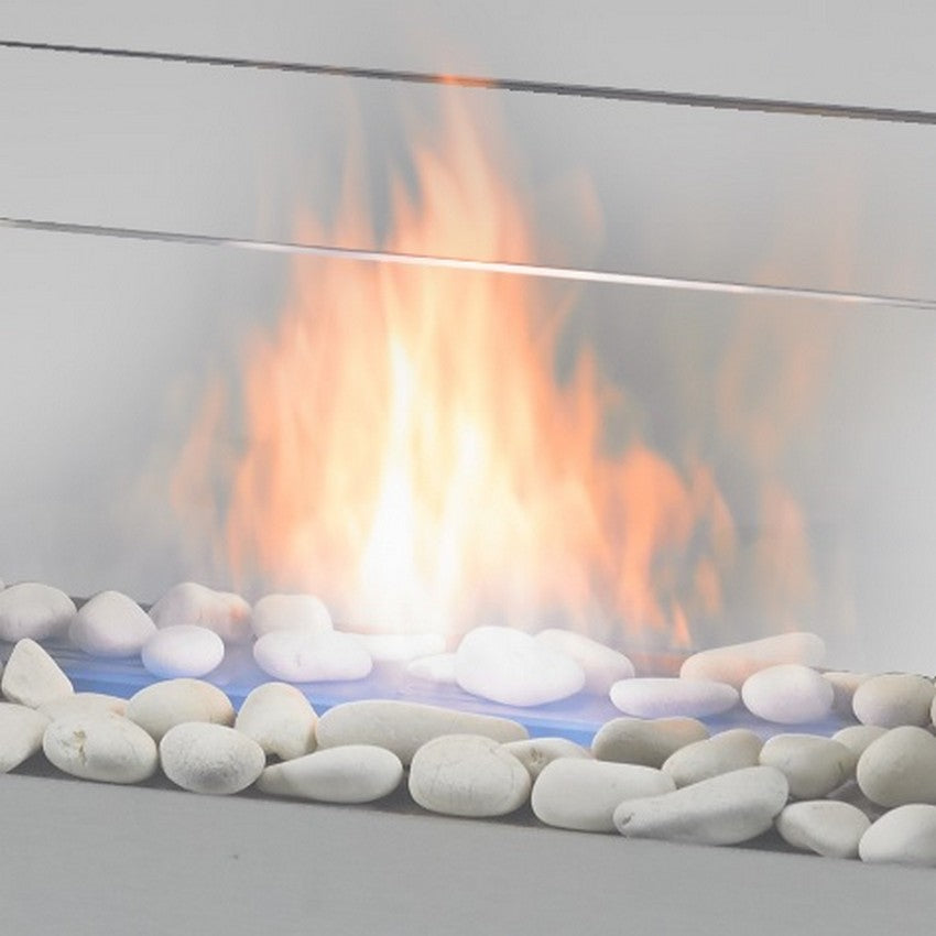 Decorative Lava Rocks  - Off White ECO-FEU AC-00007-WH - Fireplace Features