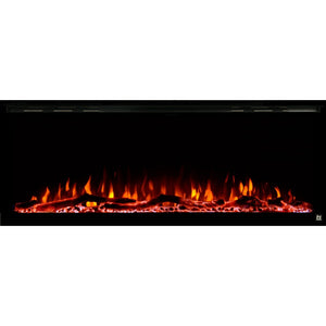"TOUCHSTONE SIDELINE ELITE 72"" Black Wallmount Fireplace"