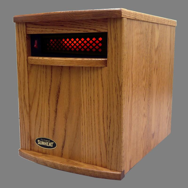 Infrared Heater-Fully Made in the USA-Nebraska Oak SUNHEAT USA1500-AMISH - Fireplace Features