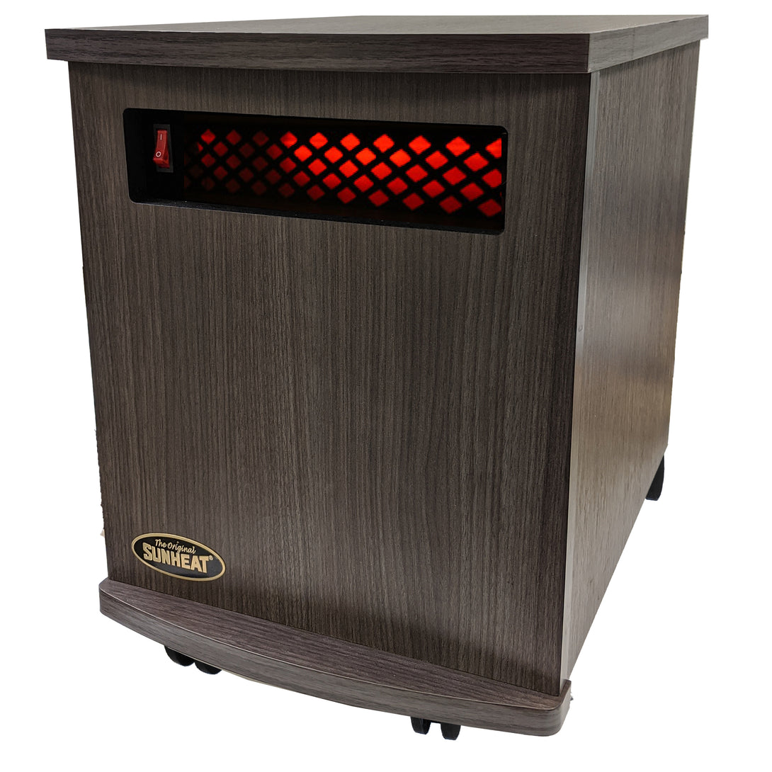 Infrared Heater-Fully Made in the USA - American Walnut or Charcoal Walnut SUNHEAT USA1500-M
