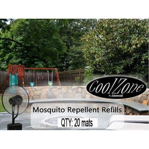 Pack Mosquito Mats for CZ500 Ultrasonic Dry Misting Fan SUNHEAT 20 - Fireplace Features