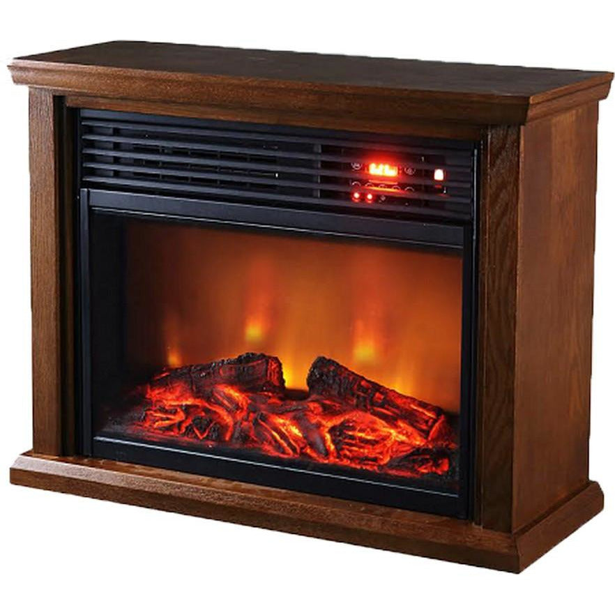 Thermal Wave Infrared Fireplace   Dark Oak SUNHEAT TWFP1510 - Fireplace Features