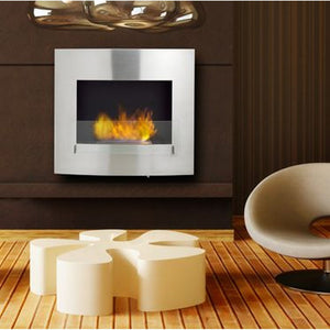 "ECO-FEU WYNN 36"" Wallmount Bio-Ethanol Fireplace UL Listed - Fireplace Features"
