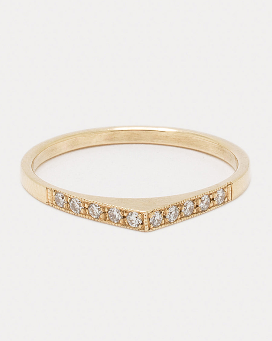 Pavé Bateau Ring <br> Diamonds & Gold