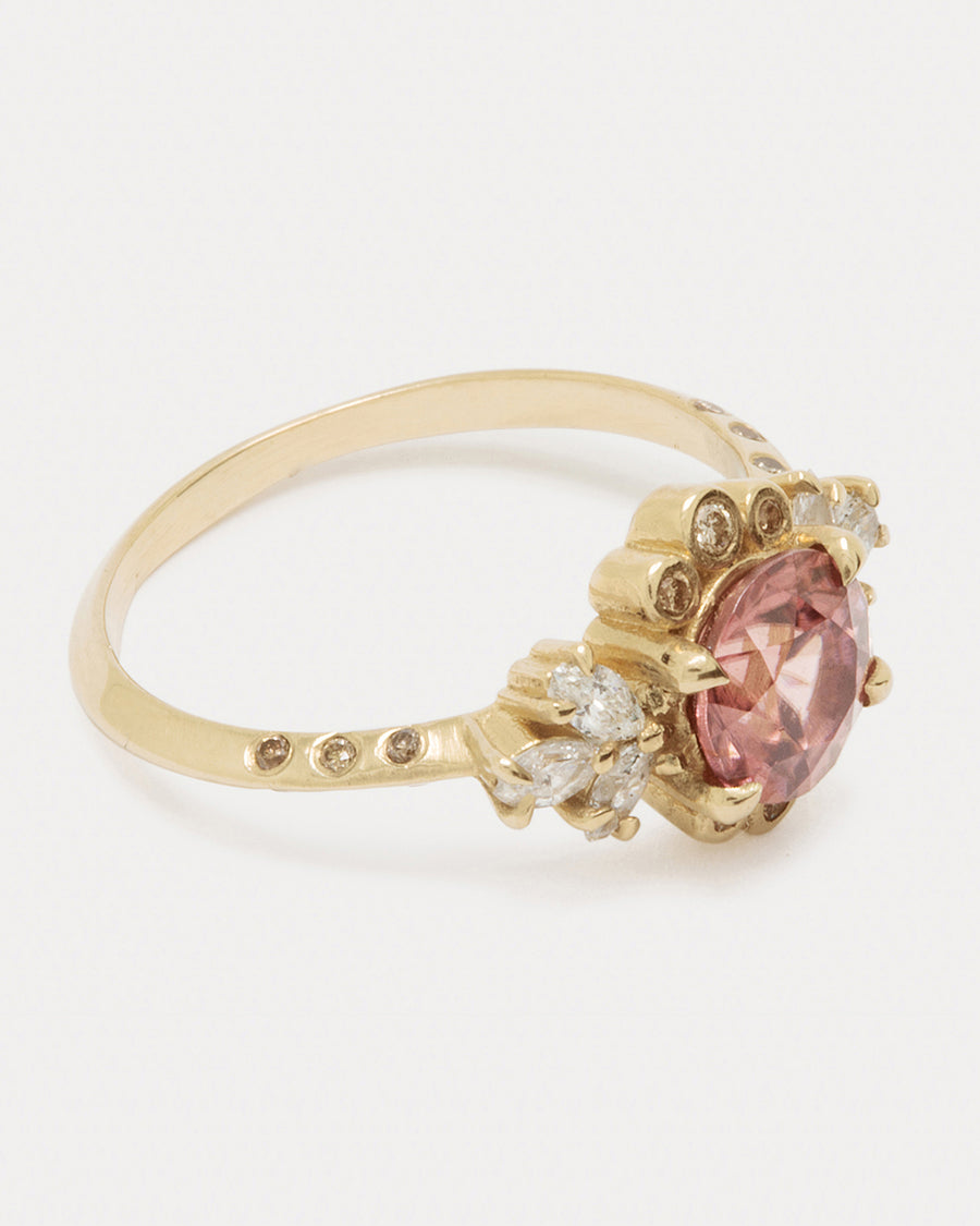 Blush Briar Rose <br> Natural Zircon & Gold