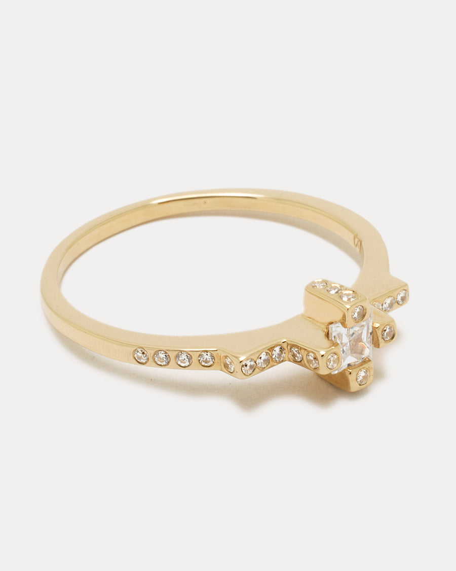 Citadel Ring <br> Diamonds & Gold