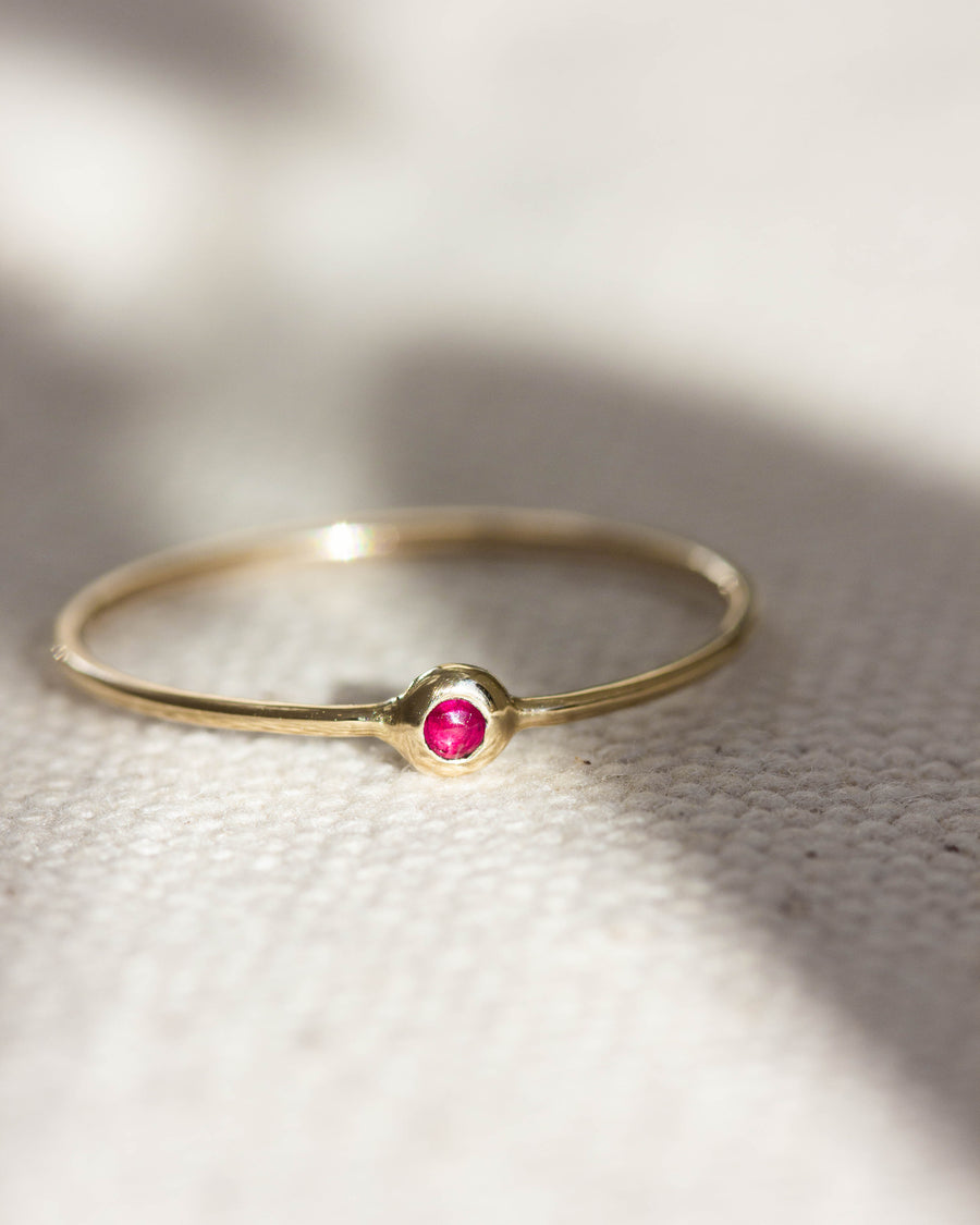 Ruby Pip Ring in Gold