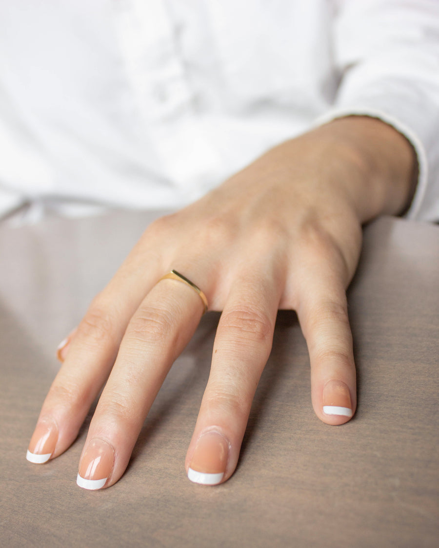 Ultra Thin Bateau Ring ⟡ Naked ⟡ in Gold