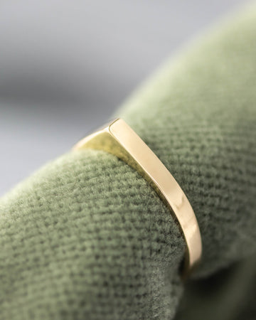 Wide Bateau Ring ⟡ Naked ⟡ in Gold
