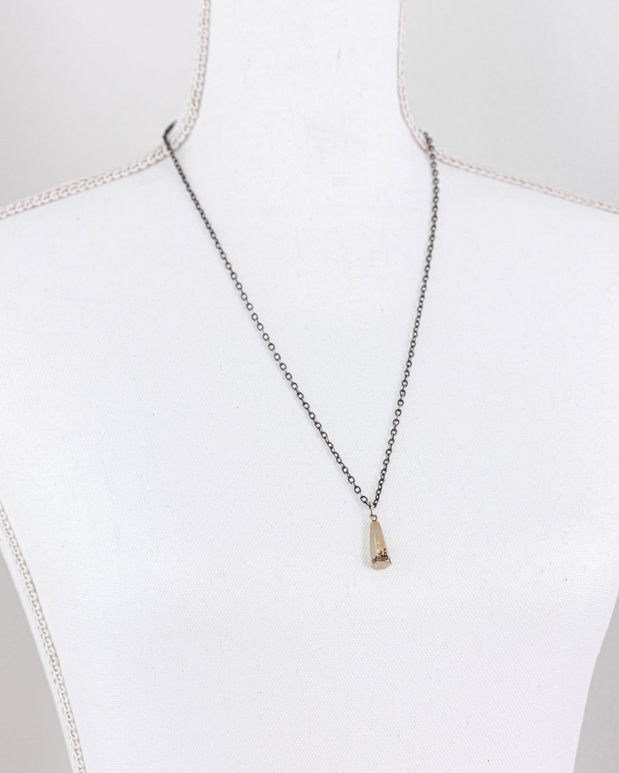 Sounding Weight Necklace <br> Silver & Brass