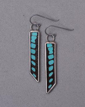 Bevel Earrings <br> Blue Bottle Butterfly