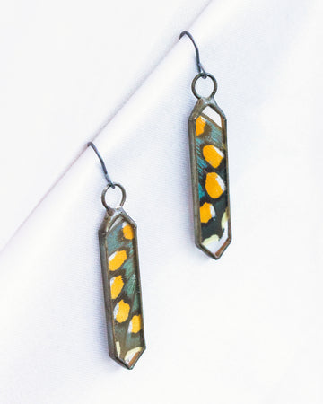 Cathedral Earrings with Pipevine Swallowtail