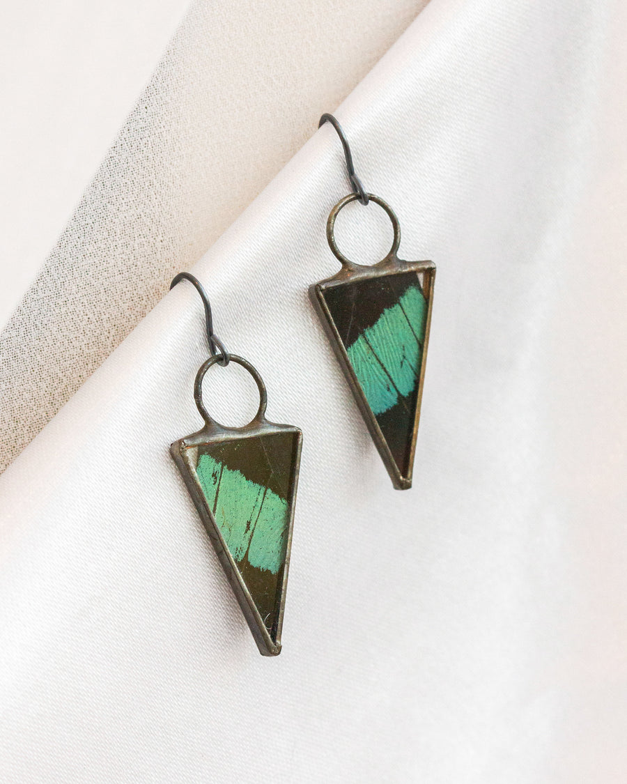 Isosceles Earrings with Nireu Butterfly