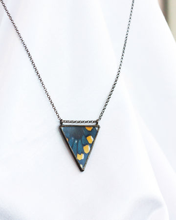 Parallel Isosceles Necklace with Pipevine Swallowtail