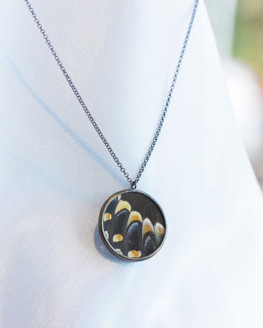 Rondure Necklace with Black Swallowtail