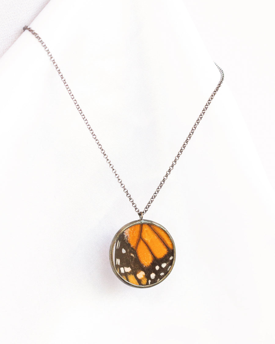 Rondure Necklace with Monarch Butterfly
