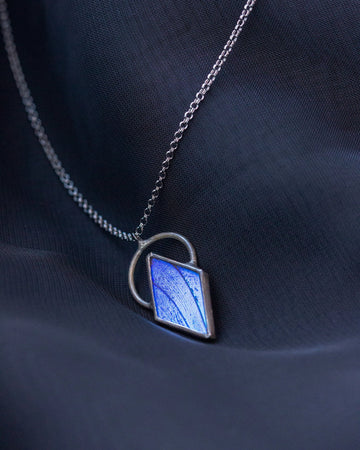 Venus Necklace with Blue Morpho