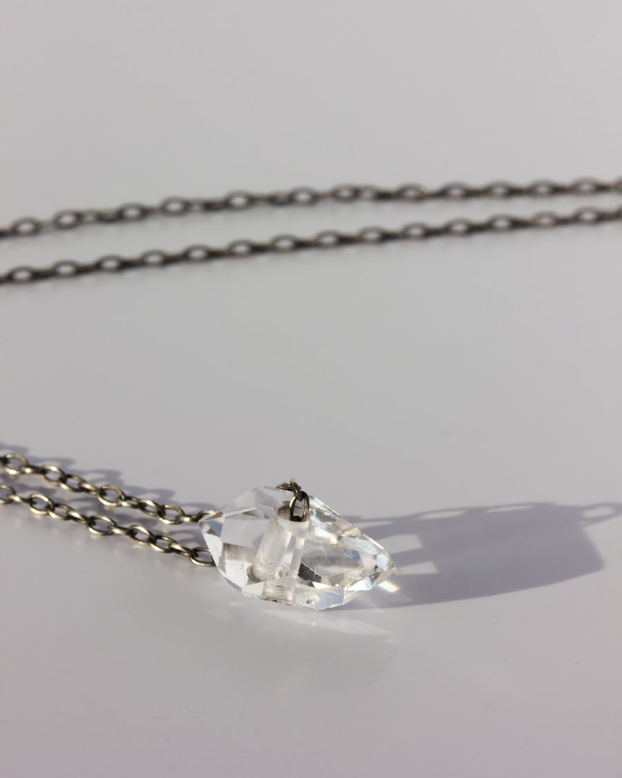 Herkimer Diamond <br> Silver Chain