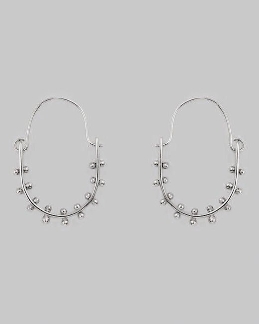 Kumi Earrings <br> Silver